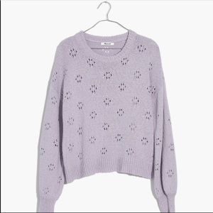 NWT Madewell Floral Pointelle Pullover Swe…